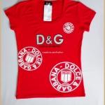 เสื้อยืดแฟชั่น D&G สีแดง