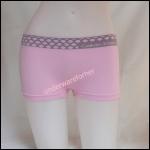 ชุดชั้นในผู้หญิง CK BOXER สีชมพูขอบใหญ่ลายจุด