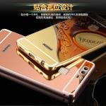 เคสมือถือ Huawei Ascend P9 Plus - เคสขอบโลหะ ฝาสไลด์กระจกเงา [Pre-Order]
