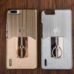 เคส Huawei Honor 6Plus - เคสแข็งเคลือบสีเมทัลลิค +แหวน Case [Pre-Order]