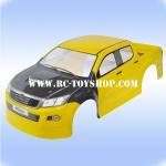 บอดี้รถบังคับ1/10 วีโก้VIGO(สีเหลือง)