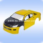 บอดี้รถบังคับอีซูซุ1/10แก้มดำ(สีเหลือง)