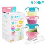 ชุดเก็บอาหารฝาล็อคพร้อมช้อน ขนาด 5 ออนซ์ Nanny Baby Food Container Set+Spoon