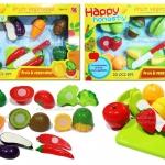 0299-0300 -- ชุดหั่นผัก-ผลไม้ Happy honestly fruit vegetable