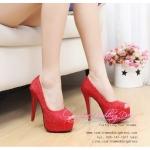 X-004 ขายรองเท้าเจ้าสาว รองเท้าแต่งงาน สวยหรู ดูดีราคาถูกกว่าเช่า สีแดง