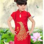 พร้อมส่งค่ะ ชุดจีนสาวน้อย น่ารักๆ ผ้าดีค่ะ งานสวย เหลือไซส์ 90/100/110/120/130/140