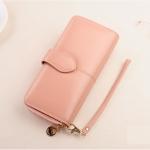 กระเป๋าสตางค์ผู้หญิง Difenise No.8 (หนังแท้) สีชมพู