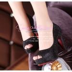 X-004 ขายรองเท้าเจ้าสาว รองเท้าแต่งงาน สวยหรู ดูดีราคาถูกกว่าเช่า สีดำ