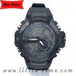 Tetonis นาฬิกาข้อมือผู้ชายสายยาง กันน้ำ รุ่น 2385 สีดำ