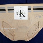 ชุดชั้นในผู้หญิง CK สีน้ำตาล ขอบใหญ่ลายเข็มขัด3แถบ