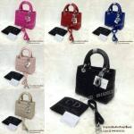 กระเป๋า Dior_Lady หนังด้าน อยู่ทรงเป๊ะ 10นิ้ว อะหลั่ยเงิน สวยหรู เกรดพรีเมี่ยมคะ