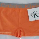 กางเกงชั้นใน เต็มตัว สีส้ม มีลายในตัว