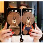 เคสมือถือ Samsung Galaxy S8 เคสซิลิโคนนิ่มกากเพชรสกรีนลายหมีของแท้เกรดA [Pre-Order]