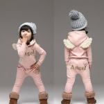 พร้อมส่งค่ะ ชุดกันหนาวเด็ก เสื้อ+ กางเกง Angel ผ้าหนานุ่มน่ารักๆ เหลือไซส์ 130