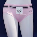 ชุดชั้นในผู้หญิง CK สีชมพู ขอบเข็มขัด 3 แถบ