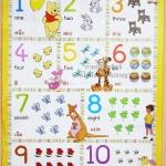 โปสเตอร์ Winnie the Pooh Counting 1 - 10