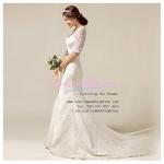 wm40005 ชุดแต่งงาน แขนยาว ผ้าลูกไม้ทั้งชุด สวยหรูสไตล์เกาหลี ขายราคาถูก