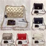 กระเป๋า Chanel Mini Classic ใบเล็ก ยอดนิยม ขนาด 8นิ้ว สายโซ่ร้อยหนัง อะไหล่ทอง เกรดพรีเมี่ยมค่ะ