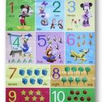 โปสเตอร์ Mickey mouse สอนนับเลข 1-10