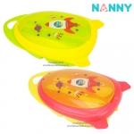 ชุดชามอาหารเด็กพร้อมช้อนส้อมลายจรวด Nanny Divided Feeding Bowl Set