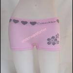 ชุดชั้นในผู้หญิง CK BOXER สีชมพูขอบใหญ่มีรูปหัวใจที่ขอบ