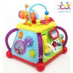 Huile toys กล่องกิจกรรม 6 ด้าน Happy Small World