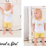 Minizoneเสื้อพร้อมกางเกงแขนขาสั้นสีเหลือง