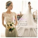 WM40014 ขาย ชุดแต่งงาน ราคาถูก เรียบง่าย กระโปรงลากยาว สวย หวาน หรู ที่สุดในโลก ชุดถ่ายพรีเวดดิ้ง สวยๆ