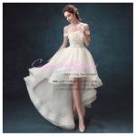 ws5023 ขาย ชุดแต่งงานสั้น ชุดเจ้าสาวสไตล์หน้าสั้นหลังยาว ราคาถูก สวยน่ารักสุดๆ