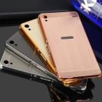 เคสมือถือ Sony Xperia XA Ultra, C6 - เคสขอบโลหะ ฝาหลังสไลด์[PreOrder]