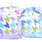 ผ้าห่ม Hudson Baby Satin Blanket ลาย Houndstooth
