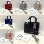 กระเป๋า Dior_Lady หนังเแก้ว อยู่ทรงเป๊ะ 10นิ้ว อะหลั่ยเงิน สวยหรู เกรดพรีเมี่ยมคะ