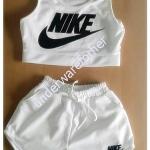 ชุดเสื้อกล้าม กางเกงขาสั้น NIKE สีขาว