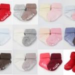 [แพคคู่]ถุงเท้าสปอร์ตเด็กแรกเกิด