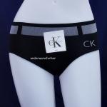 ชุดชั้นในผู้หญิง CK สีดำ ขอบใหญ่ลายเข็มขัด