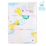 [แพค12ผืน][24x24นิ้ว] ผ้าอ้อมสาลูพิมพ์ลาย Little Home Baby