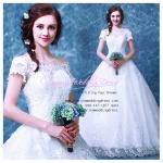 wm5080 ขาย ชุดแต่งงานเจ้าหญิง เปิดไหล่ สวย หวาน หรู น่ารัก ที่สุดในโลก ราคาถูกกว่าเช่า
