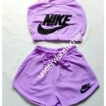 ชุด เสื้อสายเดี่ยว กางเกงขาสั้น สีม่วง