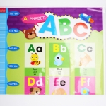 โปสเตอร์ Alphabet ABC พร้อมแถบวัดส่วนสูง