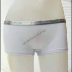 ชุดชั้นในผู้หญิง CK BOXER สีขาว แถบสีเงิน