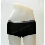 ชุดชั้นในผู้หญิง CK BOXER สีดำ แถบสีเงิน
