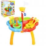 โต๊ะเล่นทราย 3 ช่องพร้อมอุปกรณ์ Sand Beach Set Toys