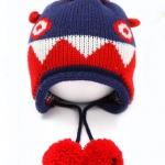 [สีน้ำเงิน] หมวกไหมพรม Monster Style