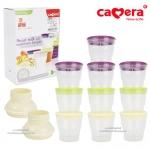 [10ใบ+2หัวต่อ][6oz] ถ้วย PEER เก็บน้ำนมแม่และอาหารเสริม Camera Breast milk and nutrition keeper