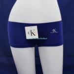 กางเกงในผู้หญิง Calvin Klein สีน้ำเงินแบบเต็มตัวมี logo Calvin Klein ด้านหน้า