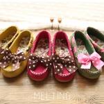 ❤❤S57 : รองเท้าคัชชูเด็กผู้หญิง ติดโบว์ หว๊าน หวาน❤❤