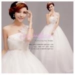 wm5051 ชุดแต่งงานเอวสูง ไหล่เดี่ยว สวยหวานหรูน่ารักชวนฝัน ที่สุดในโลก