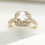 แหวนแฟชั่นเกาหลี แหวนคริสตัลขาวล้อมเพชร