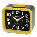 Rhythm Japan Table Clocks นาฬิกาปลุก รุ่น CRA637WR33 - Yellow/Black
