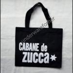 กระเป๋าผ้า CABANE de Zucca สีดำ